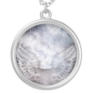 Angel Song Round Pendant Necklace