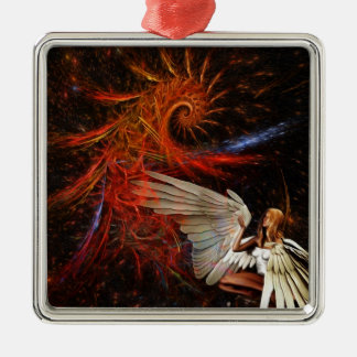 Angel Space Christmas Ornaments