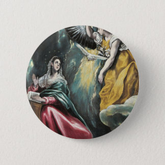 Angel Speaking to Mary Pinback Button