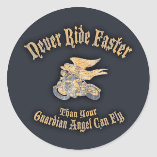 Angel Speed Classic Round Sticker