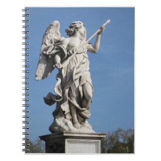 Angel spiral bound notebook