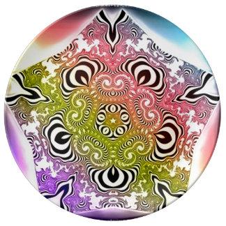 Angel Spirit Healing Mandala Porcelain Plate
