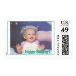 Angel Squishy, Happy Holiday! Stamp