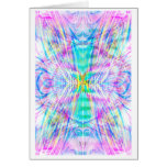Angel Standing in the Vortex: Abstract Art: Card