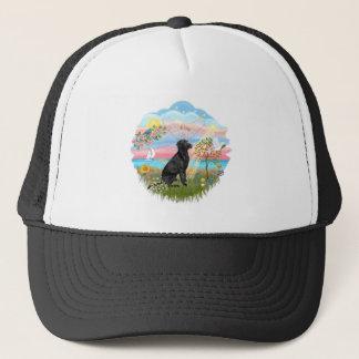 Angel Star - Black Lab Trucker Hat