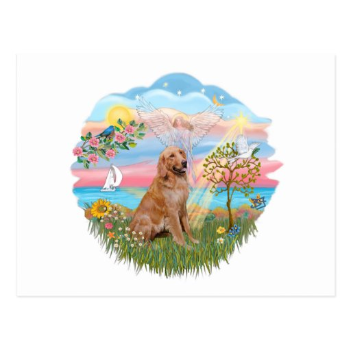 Angel Star - Golden Retriever #2 Postcard