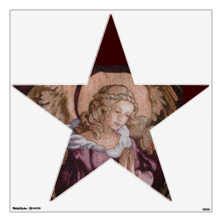 ANGEL STAR SHAPED WALL DECAL