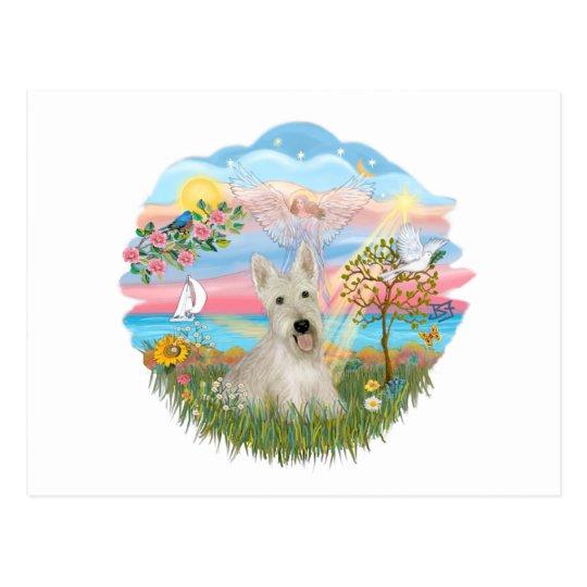 Angel Star -Wheaten Scottish Terrier Postcard