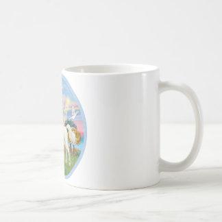 Angel Star - White Arabian Horse (round) Coffee Mug
