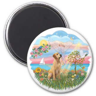 Angel Star-Yellow Lab 8 Magnet