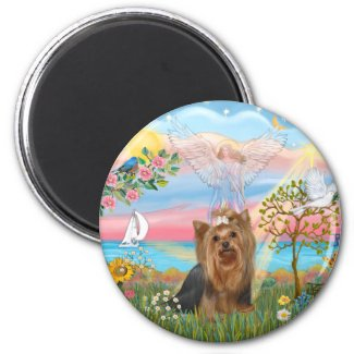 Angel Star-Yorkshire Terrier (#7) Fridge Magnets