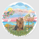 Angel Star-Yorkshire Terrier (#7) Round Sticker