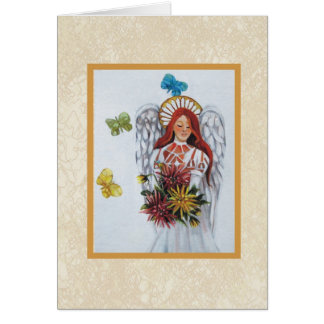 angel stationery note card