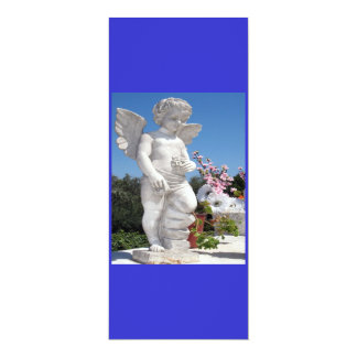 Angel Statue In Blue And Grey III Card