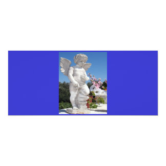 Angel Statue In Blue And Grey V Card