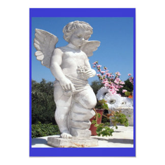 Angel Statue In Blue Card