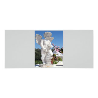 "Angel Statue In Grey V 4"" X 9.25"" Invitation Card"