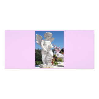 "Angel Statue In Pink V 4"" X 9.25"" Invitation Card"