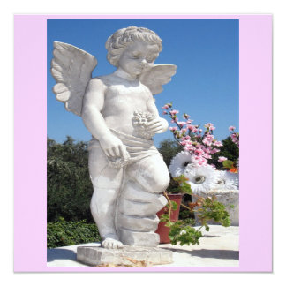 Angel Statue In Pink VI Card