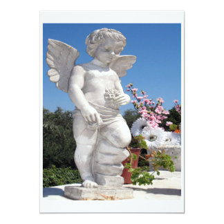 Angel Statue In White Card