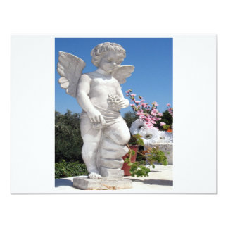 Angel Statue In White II Card