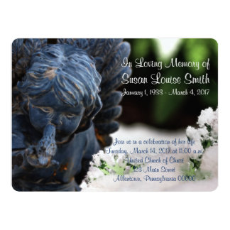 Angel Statue Memorial Service Announcement