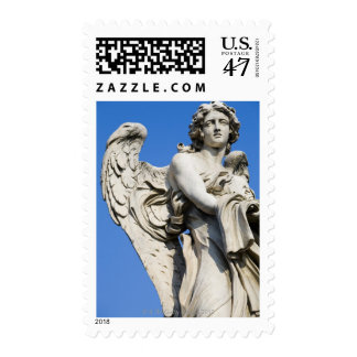 Angel statue, Ponte Sant'Angelo, Rome, Italy Stamp