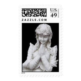 Angel Statue Postage Stamp