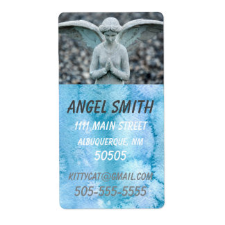 Angel Statue Watercolor Home/Business lg address Label