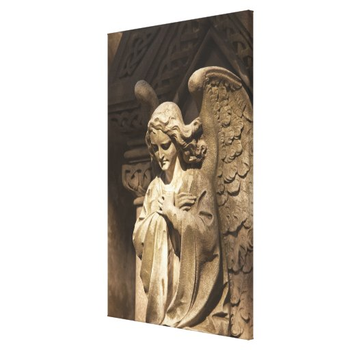 Angel Statue with Crossed Hands, Buenos Aires Canvas Print
