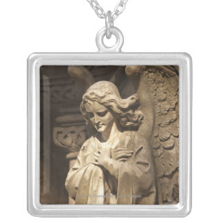 Angel Statue with Crossed Hands Buenos Aires Personalized Necklace