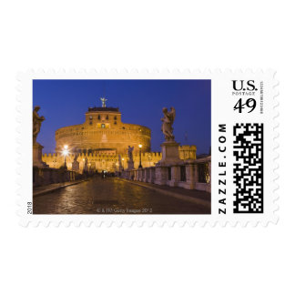 Angel statues on the Ponte Sant'Angelo with the Stamps