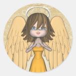 Angel Sticker Round Sticker