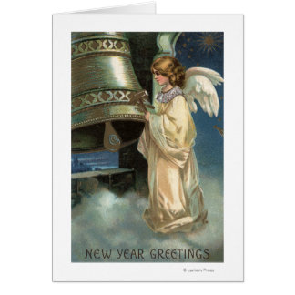 Angel Striking Bell with Mallet Card