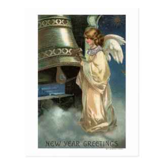 Angel Striking Bell with Mallet Postcard