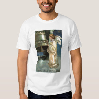 Angel Striking Bell with Mallet T-Shirt