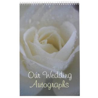 Ángel subió casando el autógrafo/el libro de visit calendarios de pared
