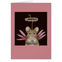 Angel Sue the field mouse card
