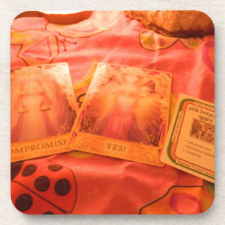 Angel Tarot Cards Beverage Coaster