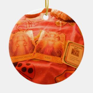 Angel Tarot Cards Ceramic Ornament