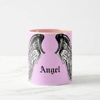 ángel taza de dos tonos