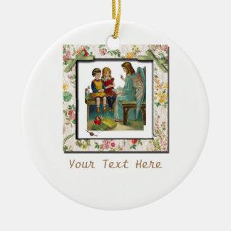 Angel Teaching Children Ceramic Ornament
