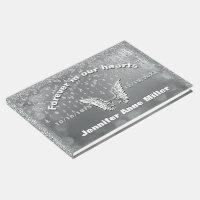 Angel Tears Silver Memorial Guest Book