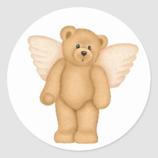Angel Teddy Bear 4 Stickers