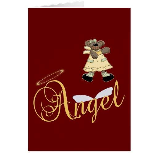 Angel Teddy Bear 6 Greeting Card