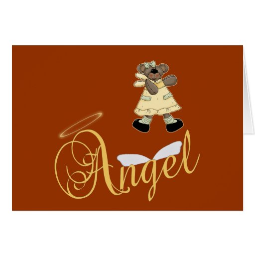 Angel Teddy Bear 6 Card