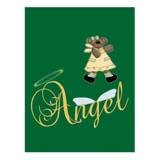 Angel Teddy Bear 6 Post Card