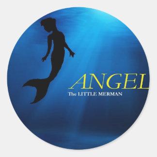 Angel The Little Merman Logo Design Product Classic Round Sticker