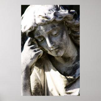 Angel Thinking Poster