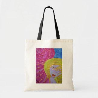 Angel Tote Bag: Silk Painted Image